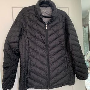 London Fog Black Down Quilted jacket